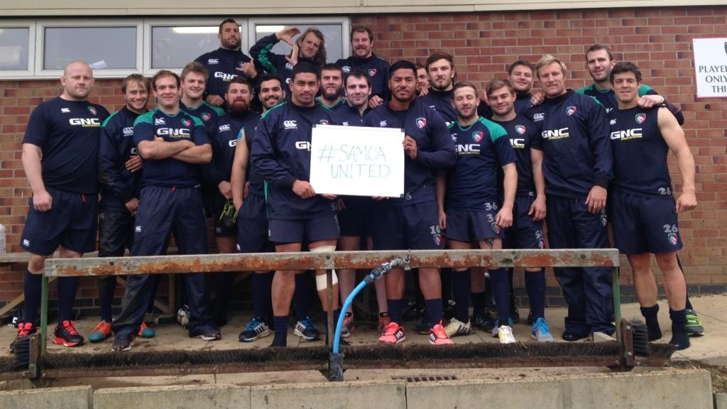 Thank you @LeicesterTigers boys for your support! #SAMOAUNITED #DoTheRightThing http://t.co/tHfqNHHJyQ