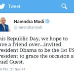 PM @narendramodi invites President @BarackObama to grace Republic Day as chief guest http://t.co/cF2MexUTXW
