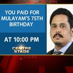 As UP sinks in poverty, Mulayam has 75 ft bday cake! @ShivAroor #CentreStage @ 10PM on peak of criminal extravagance http://t.co/Ze2BRq9KCM