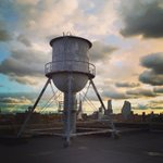 #PhotoOfTheDay: The unofficial symbol of Brooklyn. - #watertower #brooklynnavyyard #nyc #iheartny #sunset #skyline http://t.co/315Ds4DKul