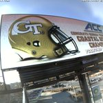 .@GeorgiaTechFB getting some love around ATL! Thanks to our @CCOutdoorNA partners for the support #TogetherWeSwarm http://t.co/jdgVFvYpl6
