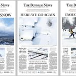 Three days, three great front pages. Proud to work for @TheBuffaloNews: http://t.co/tLv69WSbFv