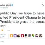 US President Barack Obama accepts PM Modis invite to attend Republic Day celebrations http://t.co/MIuGUG6q15