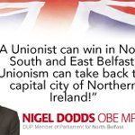 Unionism can take back the capital city of Northern Ireland. #DUP14 http://t.co/7TyHjffann