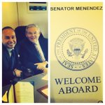 Glad to be w/@RepGutierrez on #AirforceOne as we go to Nevada to support @BarackObamas #immigrationaction.#TimeIsNow http://t.co/pGaT6SztSV