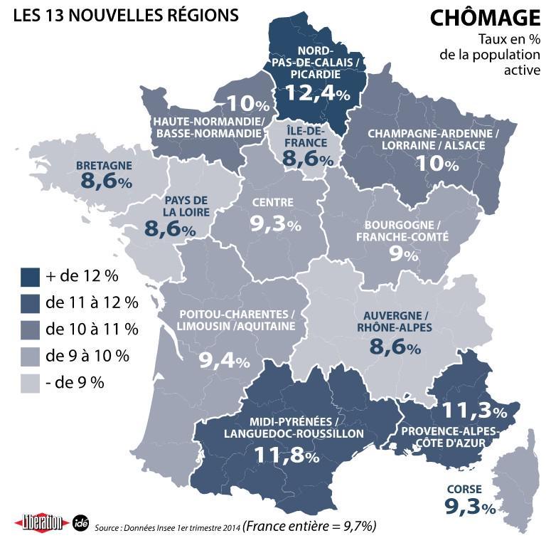 Chômage, population, nombre de miss france : les chiffres clé des nouvelles régions - scoopnest.com