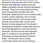 Full St Louis Co. police account of the response to protests around Ferguson PD last night, leading to three arrests http://t.co/PuphMFe1ms