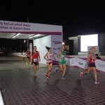At 10k its Amy Sproston and Rita Nordsveen leading in 44 flat. #IAU100k http://t.co/u3slT57TcP