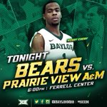 Its gameday. Tipoff at 6 pm at Ferrell Center. TV on FOX Sports Southwest-Plus. #SicEm http://t.co/veCcawS2fK