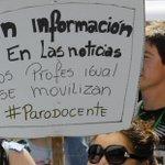 Profesores de gran parte del país marchan en Santiago http://t.co/CJ5h1VpCsm #ParoDocente http://t.co/o7PZllkpbB