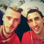 On the train with Di Maria!! #mufc http://t.co/7aYp4OQRvF