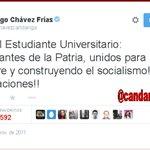 Mensaje d nuestro comandante eterno dedicado a los estudiantes universitarios d la patria #EstudiantesconlaRevolucion http://t.co/PGPZPR1yA3