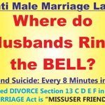 Where do HUSBANDS RING THE BELL? HELP #StopMarriageBill in LS. @PMOIndia @PandaJay @srisri @AmitShahOffice http://t.co/zggYm8IBTS