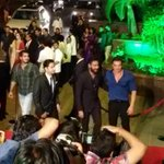 : Action-Jackson-Joins-The-Party: @ajaydevgn arrives at Arpitas wedding reception and received by Sohail Khan http://t.co/ewqNXCzXaf""