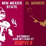 A #FunBelt showdown in Las Cruces. @ULM_FB at @FootballNMSU, today on @ESPN3 http://t.co/gg8S6sRkpq
