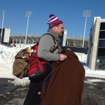 Bills player Kyle Williams makes his way to Ralph Wilson Stadium Before departing with the team to Detroit http://t.co/haOVP6T6m5