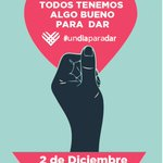 El 2 de Diciembre es #UnDiaParaDar un movimiento global que incentiva las acciones positivas. http://t.co/wV9saZhJ2D http://t.co/dWfzSBpOt7