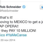 Rob Schneider se burla de Angélica Rivera en Twitter por el millonario sueldo que recibio http://t.co/GsfHAGOBMv http://t.co/VKwlSjglZP