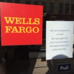 According to a sign posted on the door, the bank is closed for business right now #News18 http://t.co/FELuqQ6Oqk