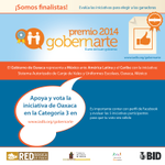 #Oaxaca nominada Premio #GobernArte @BID_GobernArte vota y se parte de este logro p/#México http://t.co/ucq5vIqenU http://t.co/2TjAy6RaMX