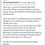 RT @mannigandhi: #SriSriInIraq rite now post by Dr. @Swamy39 on Facebook page PC  http://t.co/8sHz1SAsYO