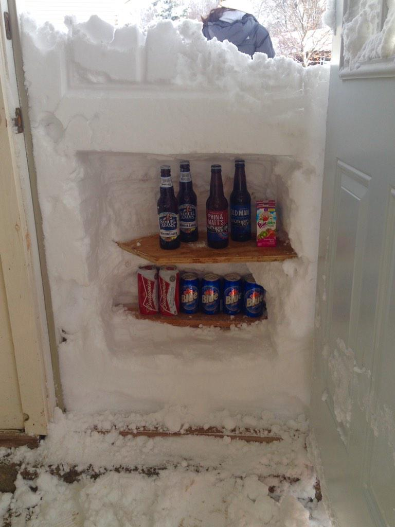 Winner. RT @ginnitti: Turning 50 inches of snow into a positive. #snowvember #BuffaloSnow http://t.co/VeQMEqGHAF