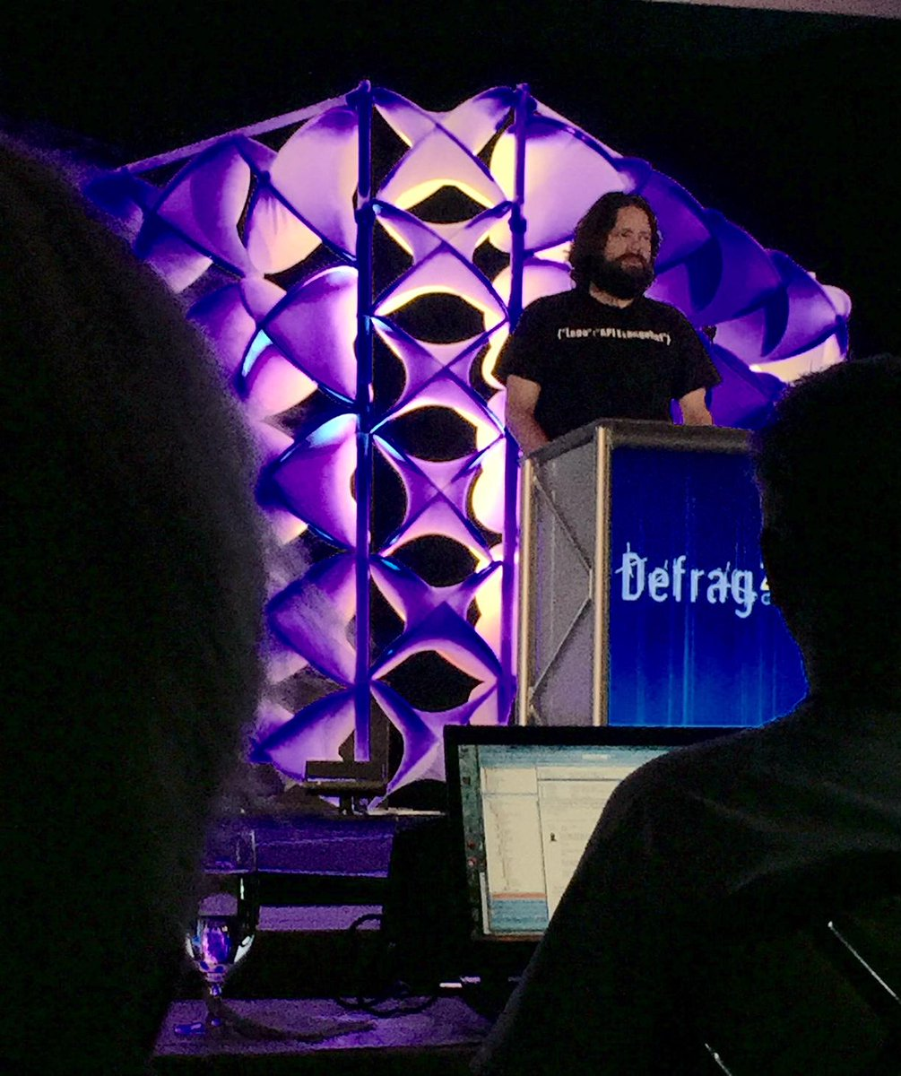 "@kinlane on ""Containers Will Do for APIs what APIs Do for Companies"".. awesome talk and slides! #defragcon http://t.co/VEfyD6kPj6"