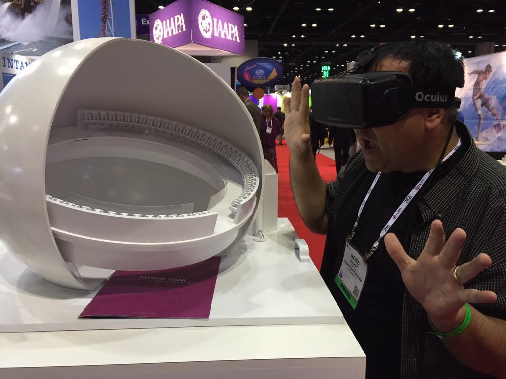 Checking out a super cool new concept at Intamin via @oculus rift! @IAAPAHQ #IAAPA http://t.co/Ec5GhEmrlu