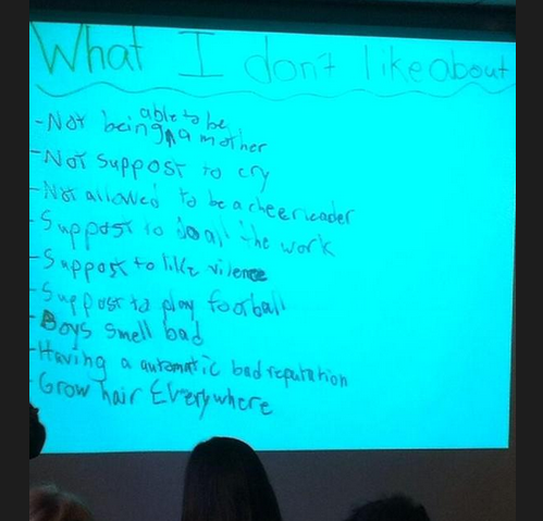 MT @motherland_wild: 9 year old boys listed what they don't like most about being boys. Precious yet heartbreaking. http://t.co/d8R55zeAjd