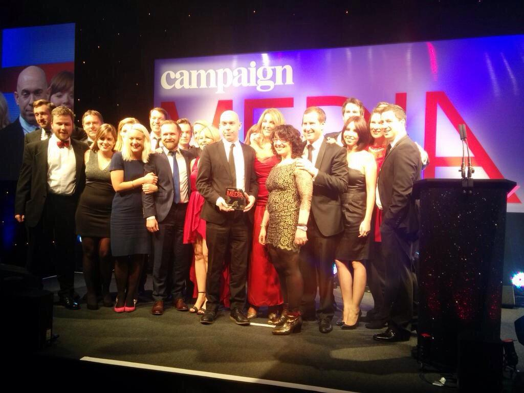 Grand Prix winners! Well done to everyone at MediaCom UK!! #CampaignMediaAwards http://t.co/2kZoGBU6wF