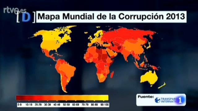 Mapa mundial de la corrupción. Fuente: Transparencia Internacional.  #elDBTcorrupción http://t.co/aARV7srWl0