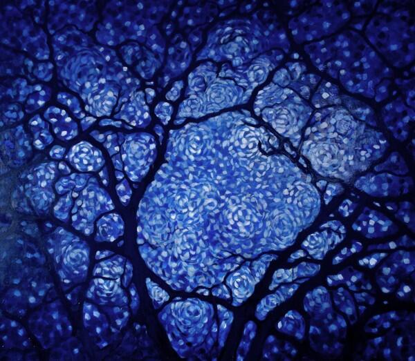 """""""Midnight in the Garden"""" (2010) 40*x50"""" oil on canvas #art #painting http://t.co/k5ZUjEkaa0"""