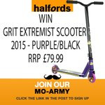 #win a Grit Extremist Scooter! Follow & RT! #Movember - http://t.co/rcRFWYEPi3 #free #Christmas #gifts #competition http://t.co/8tlXB9iC9A
