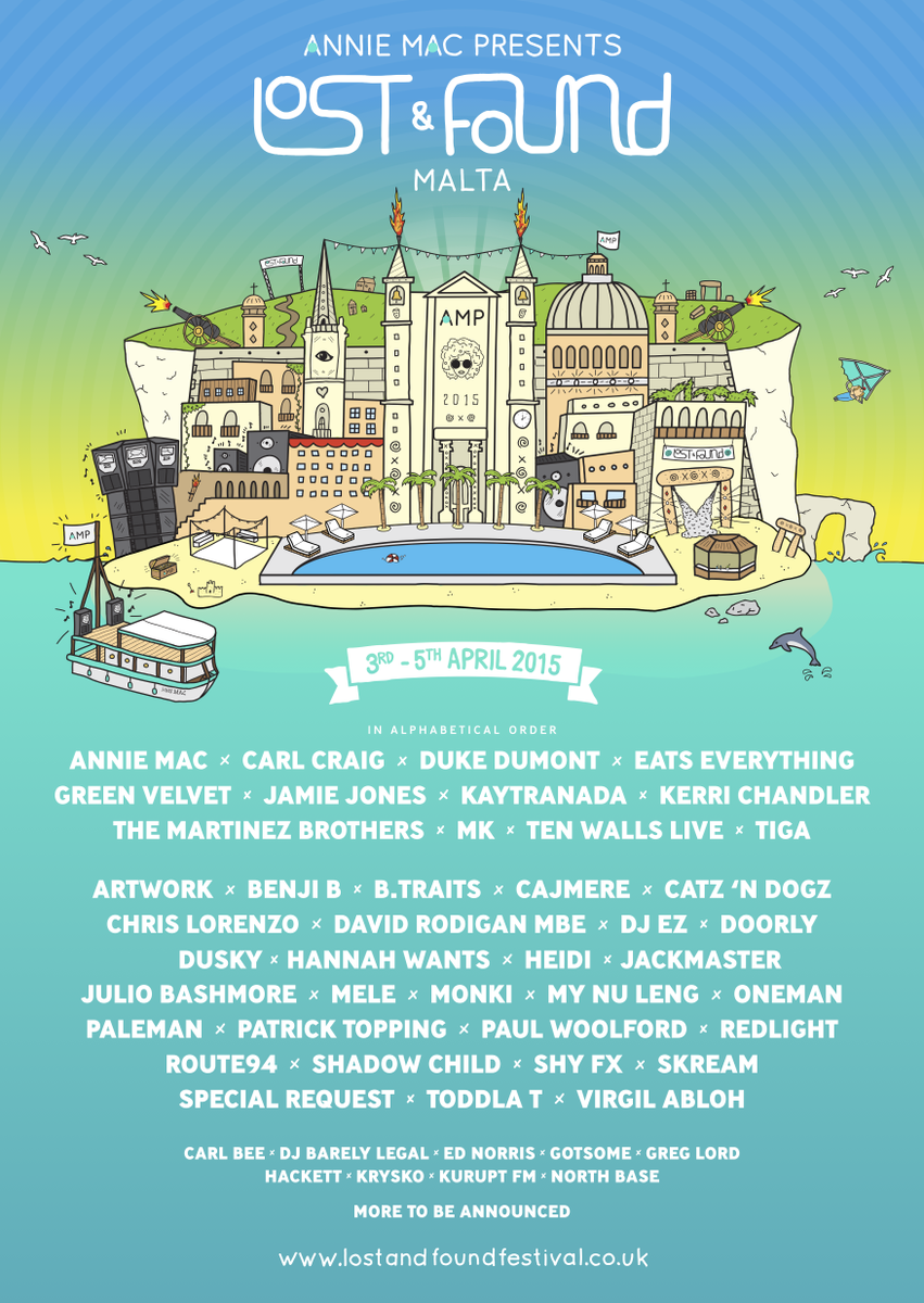 Delighted to reveal the line-up for @AMPLostandfound 2015! General tickets on sale Friday 9am http://t.co/m6eM00wW0S http://t.co/9bzaWKkR0E