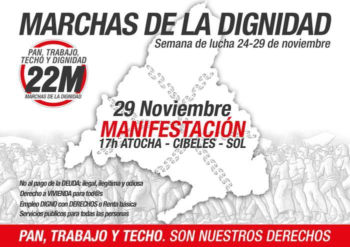 """Las Marchas de la Dignidad volverán a la calle el sábado 29 a pedir """"Pan, trabajo y techo"""" http://t.co/HuMv6zLeYS http://t.co/xBQxZJRel7"""