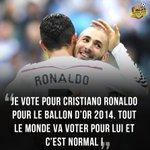 [#BallondOr2014] Benzema a fait son choix ! http://t.co/M2Q5jAY6IM