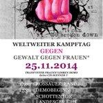 25.11.2014: Internationaler Tag gegen Gewalt gegen Frauen* - Demo 17 Uhr Rossauer Lände #Wien http://t.co/VLhssuWHER