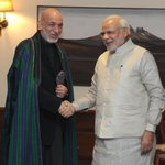 """""""The former President of Afghanistan, Mr. Hamid Karzai calls on the Prime Minister, Shri @narendramodi in New Delhi. http://t.co/yQWO7wMNvg"""""""