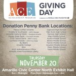Can't make it out to the @ACEGivingDay headquarters? Stop by these locations to make a donation to ACE #AmarilloGives http://t.co/4KMlfx0Ixk