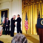 Doug Lowy and John Schiller receive the Natl Medal of Tech&Innovation from the President. Makes #NIH proud! http://t.co/3IRVY6JWmv