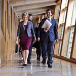 FM @NicolaSturgeon on her way to her first #FMQS as First Minister of Scotland. @ScotGov http://t.co/FLMvMMfI5w