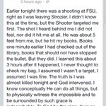 Unbelievable. Thank God for helping this person. #FSUnited #fsushooting http://t.co/ef072xVCdX