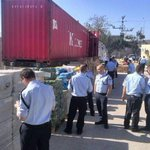 PHOTOS: Weapons shipment bound for East Jerusalem, intercepted by Israeli authorities at Ashdod Port earlier today. http://t.co/BLB24hDpRq