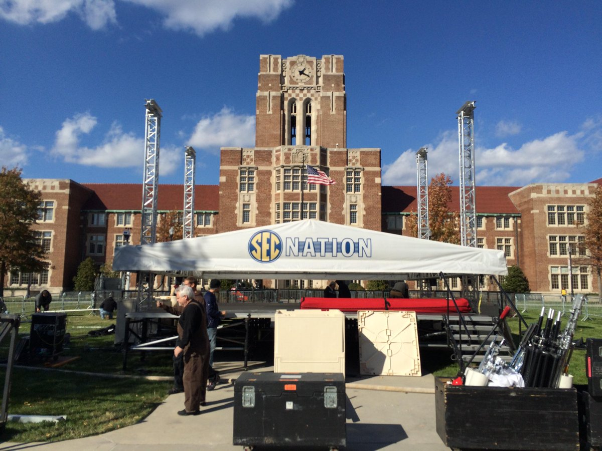 For those wondering where #SECNation is setting up at #Tennessee, maybe this will help. Join us Sat 10-noon! http://t.co/KNolewcNfQ