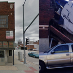 The collapsed bldg at 18th/Oak, then and now (now photo from @KCMOFireDept, then photo from Google Streetview) http://t.co/x8gT1Oa2os
