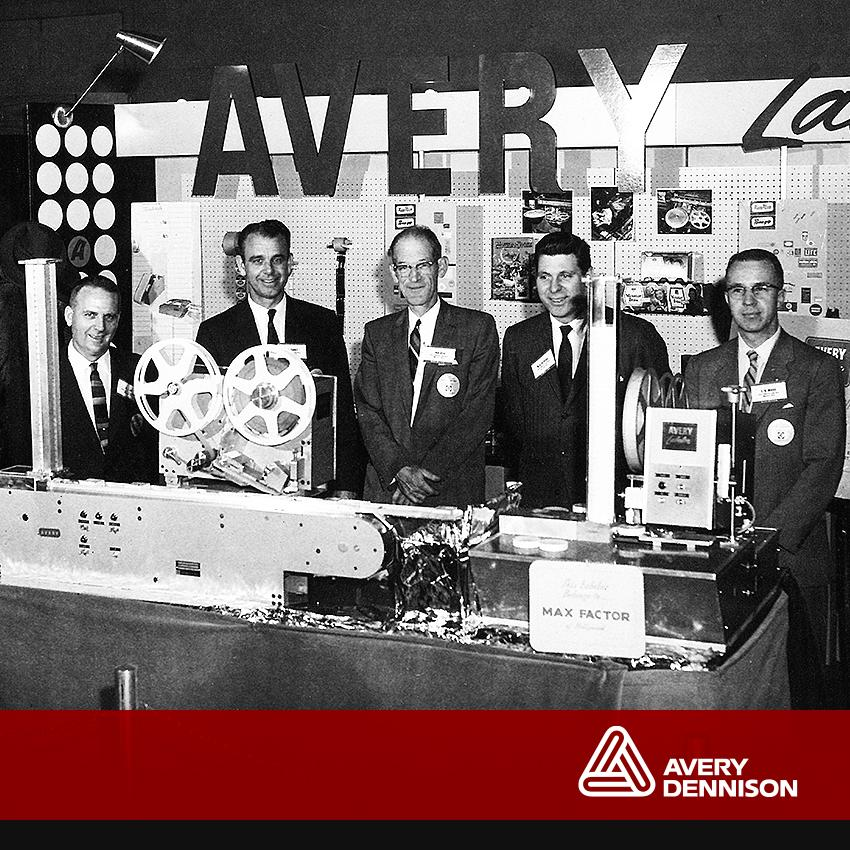 A label trade show exhibit from 1960 with execs John Torrey and R.A.Contreras. #TBT #AveryDennison http://t.co/xoP5emIbyQ
