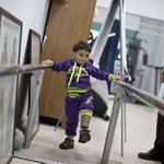 Sharif 3Y/O wounded during the war 51days Israel's Ethnic cleansing in Gaza practices walking with his prosthetic leg http://t.co/zcxvgdKNZx