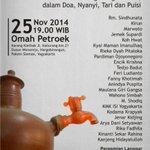 "#Jogja 25/11/14 | 19:00 | Tombo Ati ""Mengenang Gus Dur"" | di @OmahPetroek Karang Klethak | http://t.co/hNEO3sxCM9 @fadjroel"