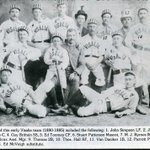 A Visalia semi-pro team of fine gentlemen from the 1880s (Candy-cane striped hats are classy, dont you think?) #TBT http://t.co/kF0Reig0WN