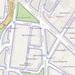 NYC road boundaries overlaid on a Google map, aka Streets Arent Lines http://t.co/ZU6P5379mF